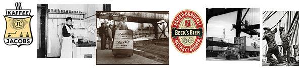 Verschiedene Fotos zum Thema Unternehmens-, Marken- und Industriegeschichte